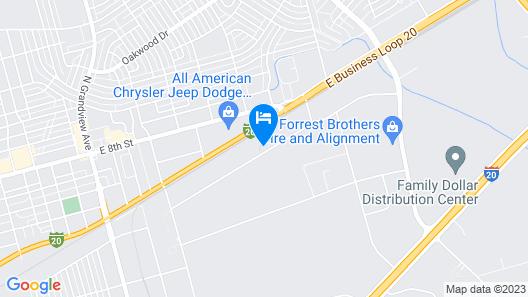 Target Hospitality-Odessa East Lodge Map