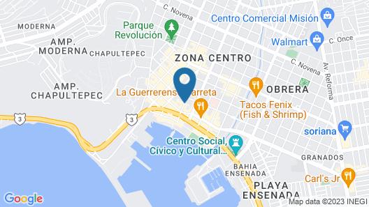 Hotel Bugambilias Map