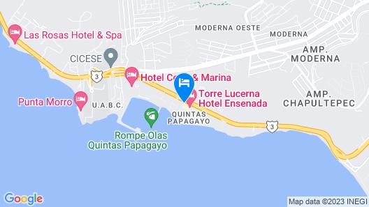 Torre Lucerna Hotel Ensenada Map