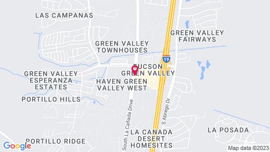 Best Western Green Valley Inn Map