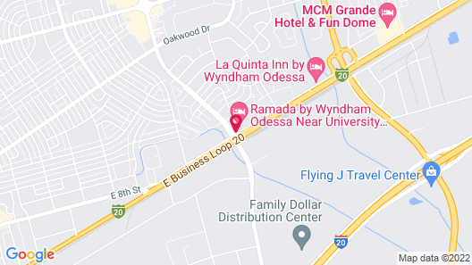 Ramada by Wyndham Odessa Near University of Texas Permian Map