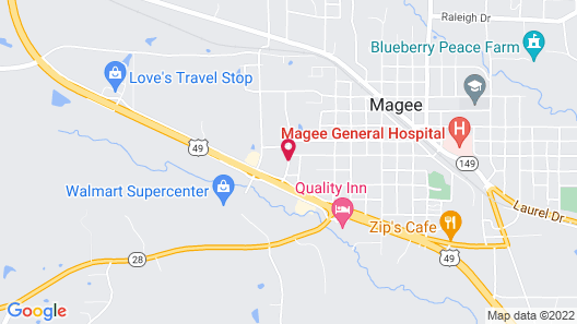 Best Western Plus Magee Inn And Suites Map