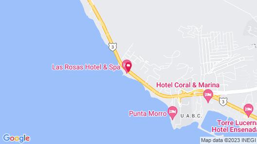 La Rosas Hotel & Spa Map