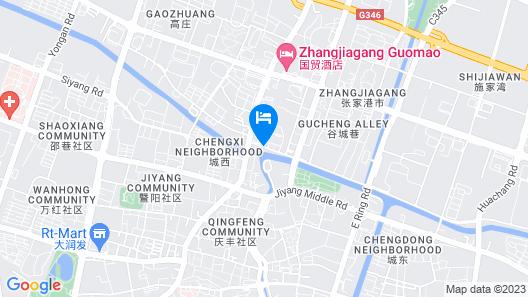 GreenTree Inn Suzhou Zhangjiagang Yangshe Old Street Stadium Express Hotel Map