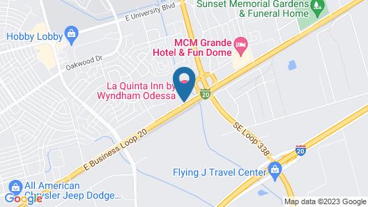 La Quinta Inn by Wyndham Odessa Map