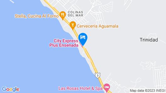 City Express Plus Ensenada Map