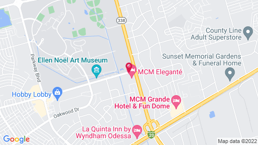 MCM Elegante Hotel and Conference Center Odessa Map