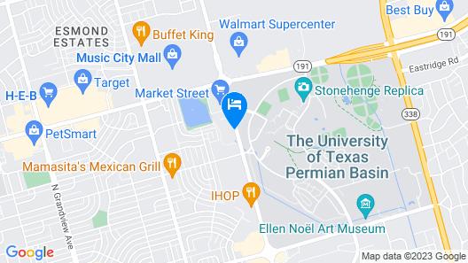 Fairfield Inn & Suites Odessa Map