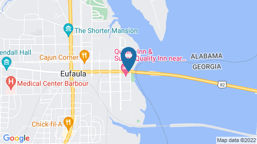 Quality Inn And Suites Eufaula Map