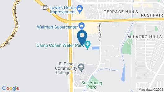 Candlewood Suites El Paso North Map