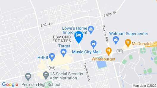 TownePlace Suites by Marriott Odessa Map