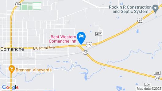 Best Western Comanche Inn Map