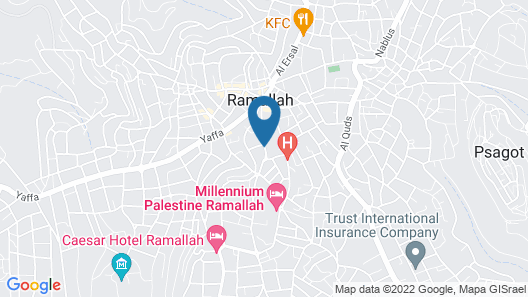 Casablanca Hotel Ramallah Map