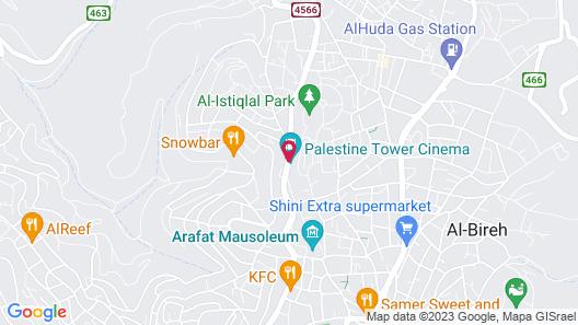 Palestine Plaza Hotel Map