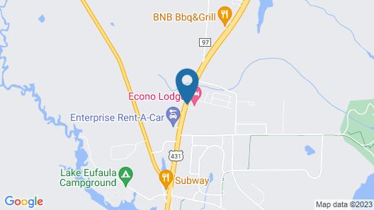 Econo Lodge Eufaula Map