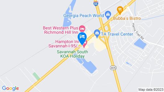 Econo Lodge Richmond Hill Map