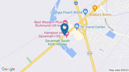 Hampton Inn Savannah-I-95/Richmond Hill Map