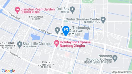 Holiday Inn Express Nantong Xinghu Map