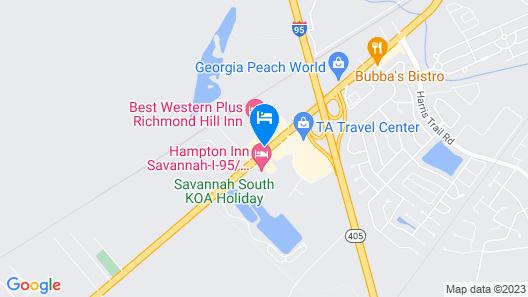 Best Western Plus Richmond Hill Inn Map