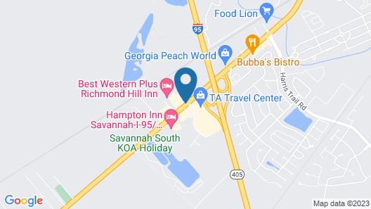 Red Roof Inn Savannah – Richmond Hill / I-95 Map