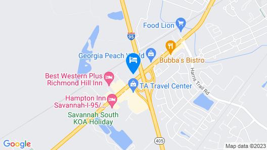 Quality Inn Richmond Hill - Savannah I-95 Map