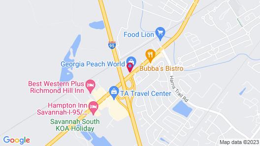 Travelodge by Wyndham Savannah Area/Richmond Hill Map