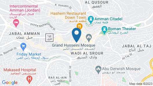 Jabal Amman Hotel (Heritage House) Map