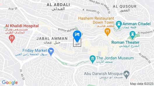 Jabal Amman Hotel Map