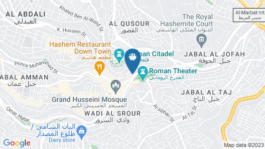 The Amman Pasha Hotel Map