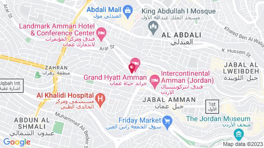 Grand Hyatt Amman Map