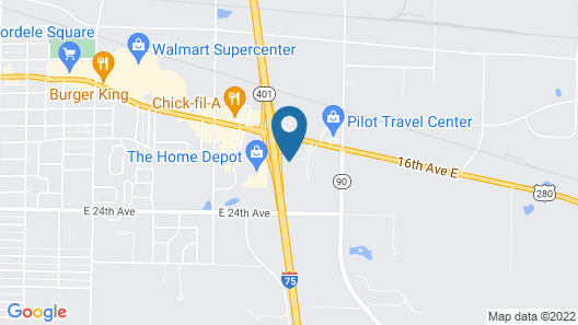 Holiday Inn Express Hotel & Suites CORDELE NORTH, an IHG Hotel Map