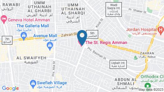 The St. Regis Amman Map