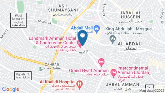 Landmark Amman Hotel & Conference Center Map