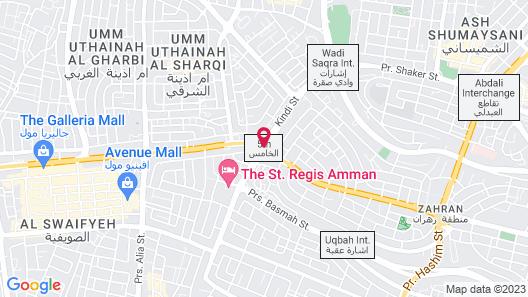 Sheraton Amman Al Nabil Hotel Map