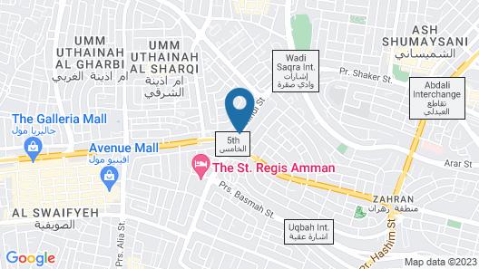Four Seasons Hotel Amman Map