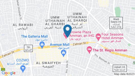 Crowne Plaza Amman, an IHG Hotel Map