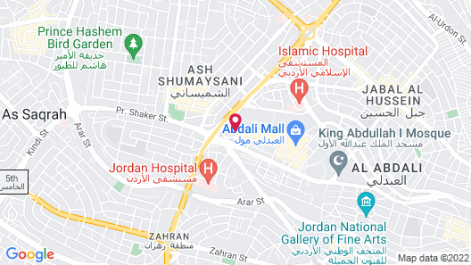 Amman Rotana Map