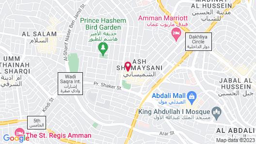 Kempinski Hotel Amman Jordan Map