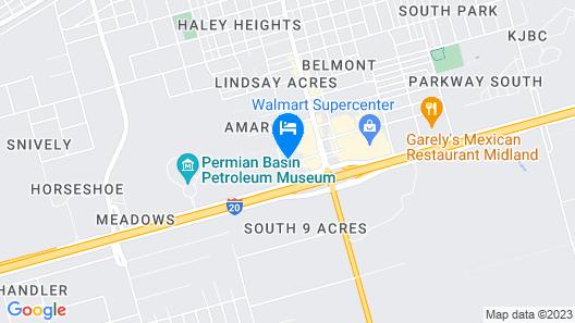 Hampton Inn Midland South Map