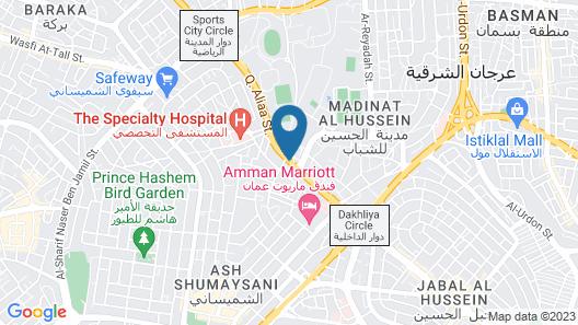 Corp Amman Hotel Map