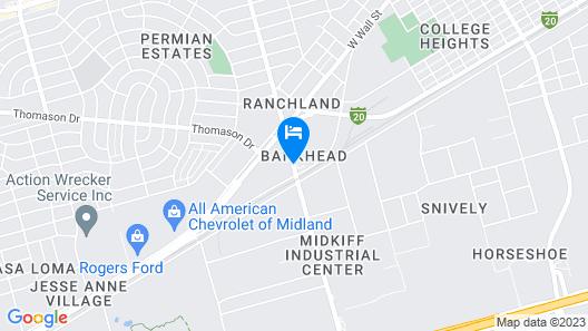 Americas Best Value Inn Midland Map