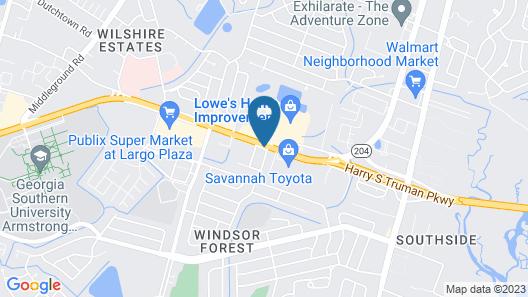 TownePlace Suites by Marriott Savannah Midtown Map