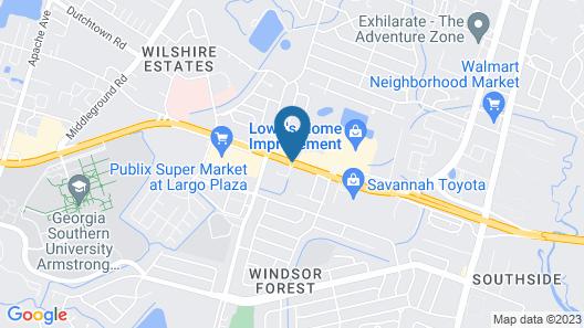 Springhill Suites by Marriott Savannah Midtown Map