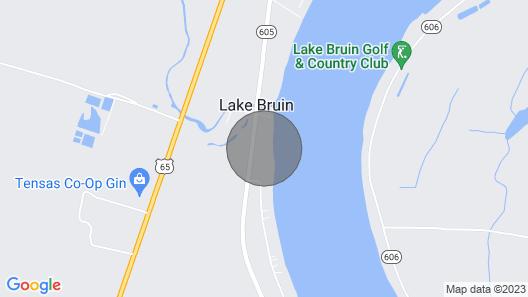 Lazy Bear Lodge The Sandifers House on Lake Bruin Map