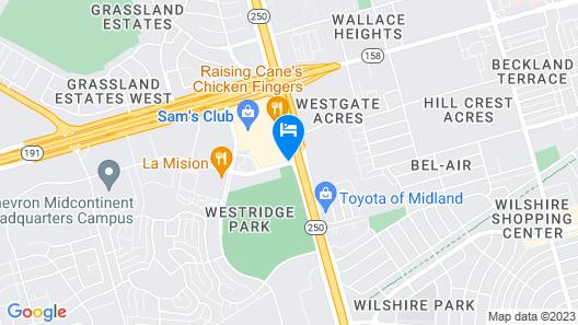 Hilton Garden Inn Midland Map