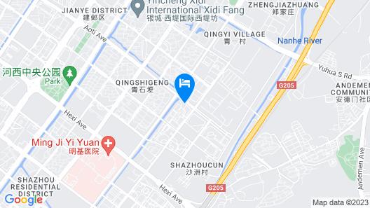 New Town Hotel - Nanjing Map