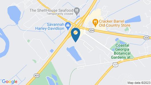 Econo Lodge Savannah Gateway I-95 Map