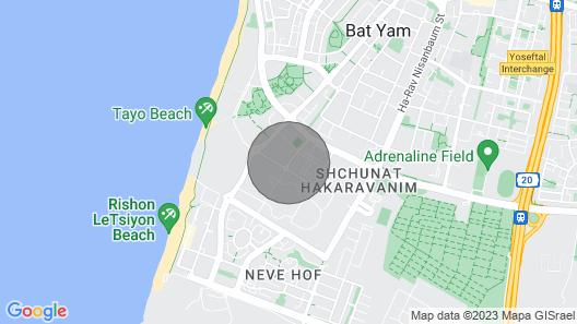 Romantic Ocean View Haven Walk to Beach. 7 Min-tel-aviv Ctr, Perfect Location Map