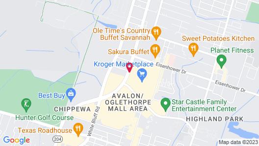 Econo Lodge Midtown Map