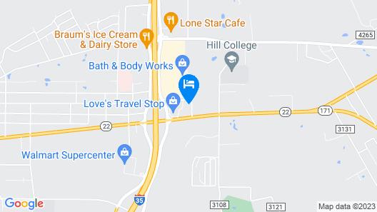 Super 8 by Wyndham Hillsboro TX Map
